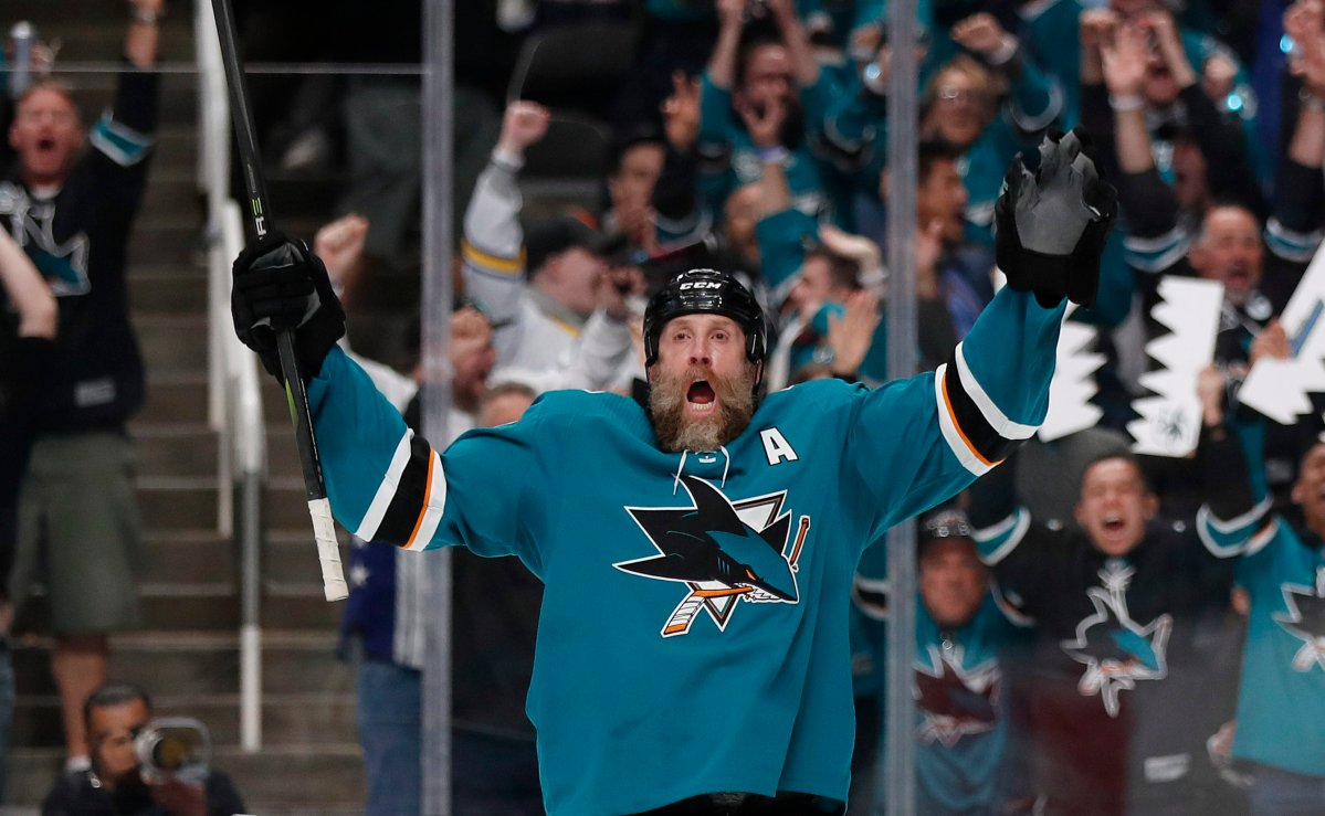 After 15 seasons with the San Jose Sharks, Joe Thornton (19) is joining the Toronto Maple Leafs.