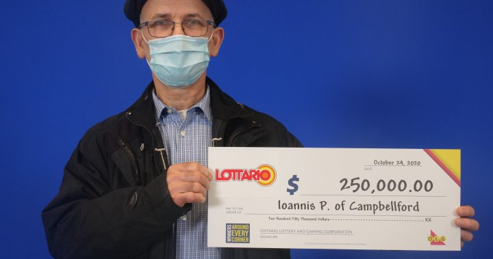 Campbellford resident claims $250,000 on lottery draw: OLG