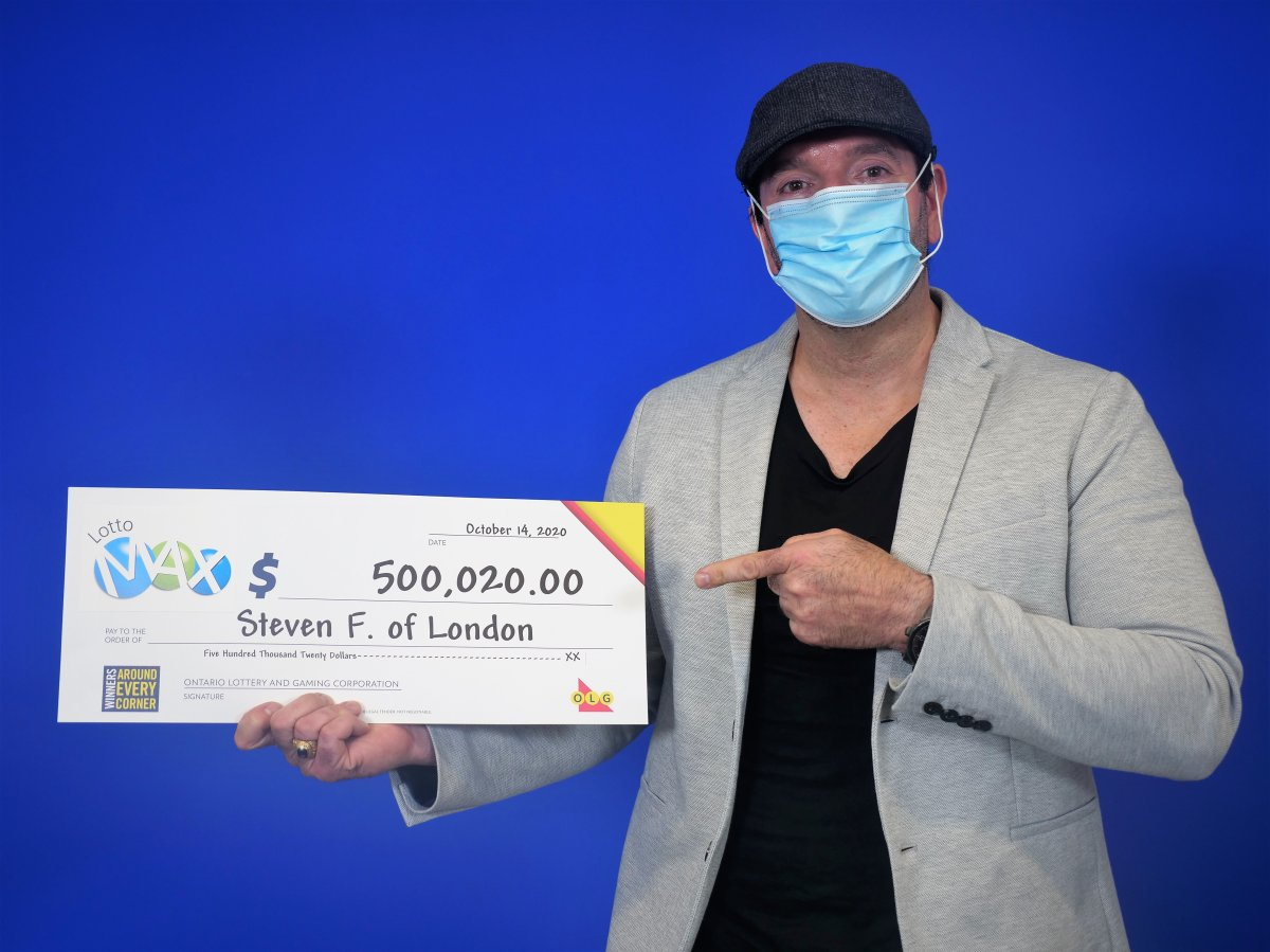 Londoner Steven Forget won $500,020 in the Oct. 9 Lotto Max draw.