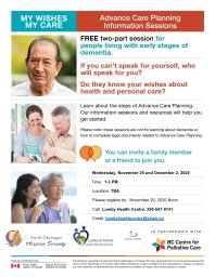 Continue reading: My Wishes, My Care: Advance Care Planning Information Sessions