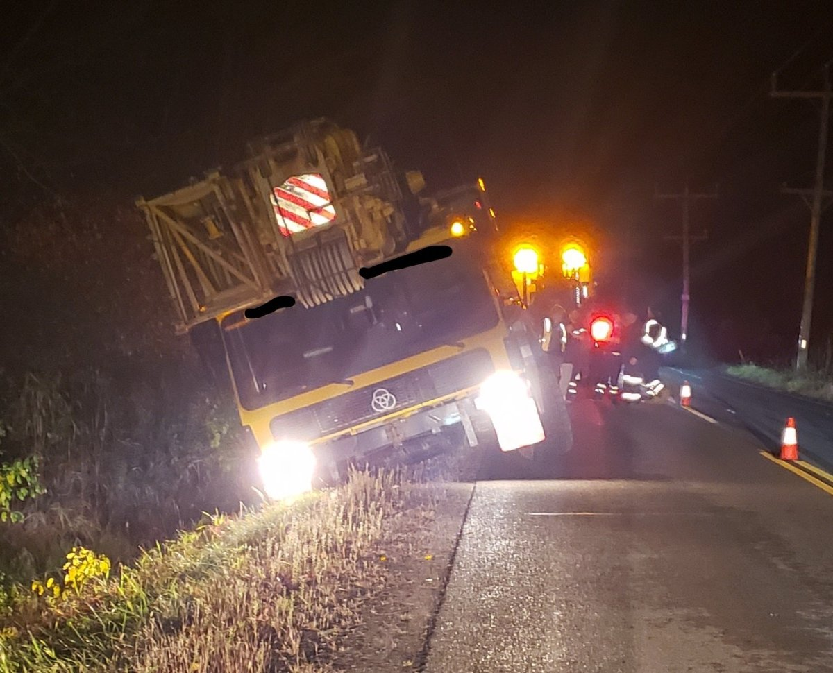 OPP say a crane impounded after a collision in Prescott last week was crashed once again 'within minutes' of being picked up from a Brockville-area impound lot.