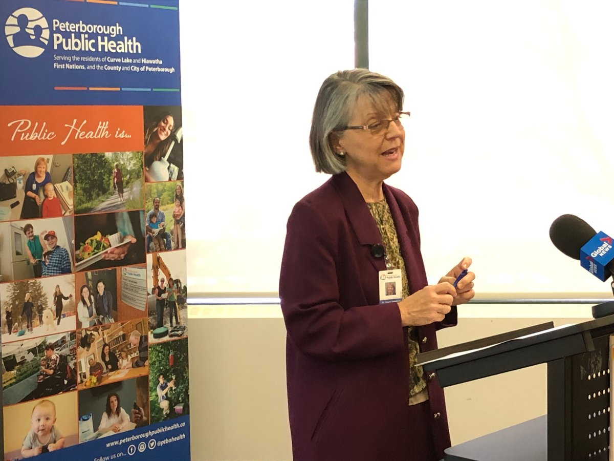Dr. Rosana Salvaterra, Peterborough Public Health's medical officer of health, discusses the latest on the coronavirus pandemic on Wednesday.
