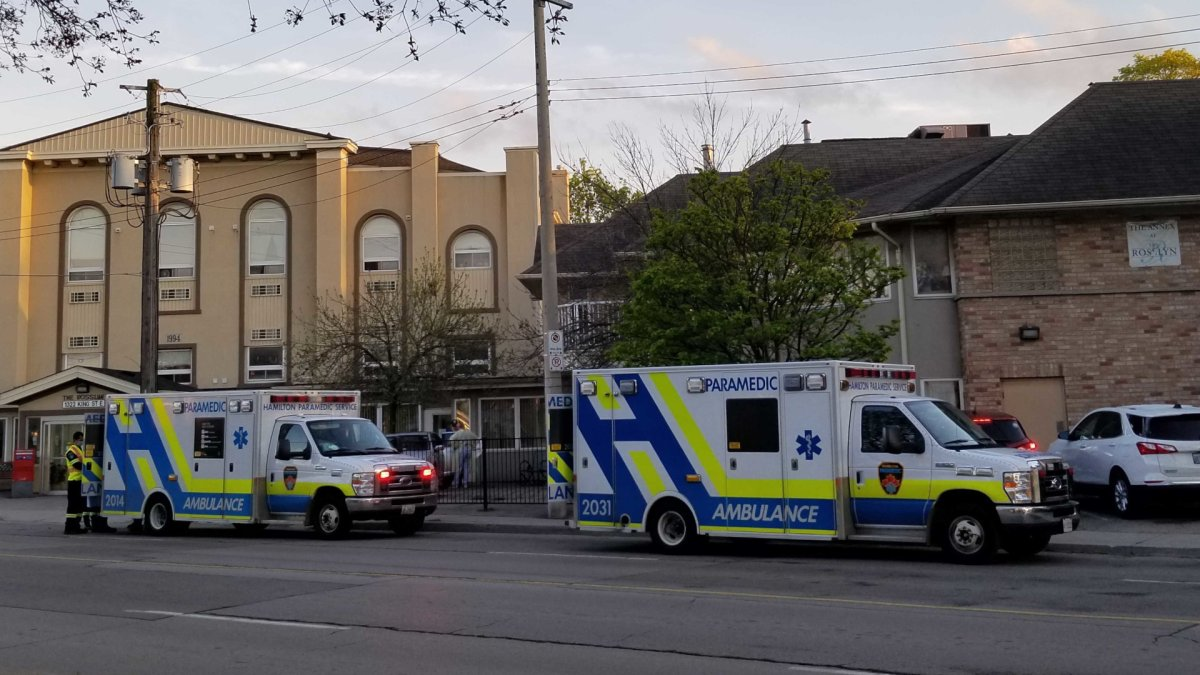 The City of Hamilton removed 52 residents from the Rosslyn retirement home on May 15, 2020 after declaring an outbreak at the facility. Will Erskine / Global News.