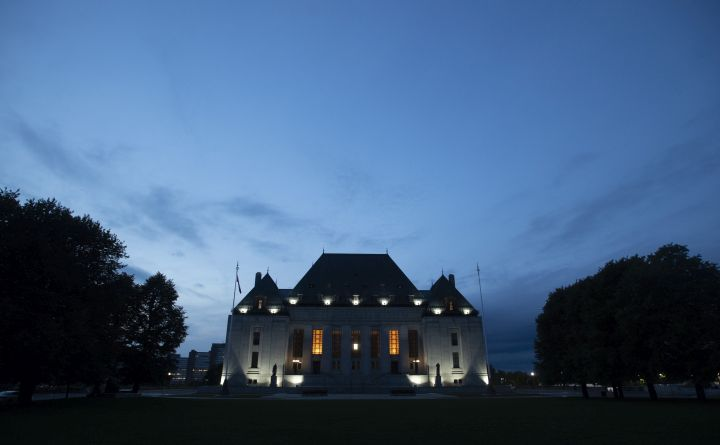 The Supreme Court of Canada is seen at sunset  in Ottawa, Tuesday September 1, 2020.
