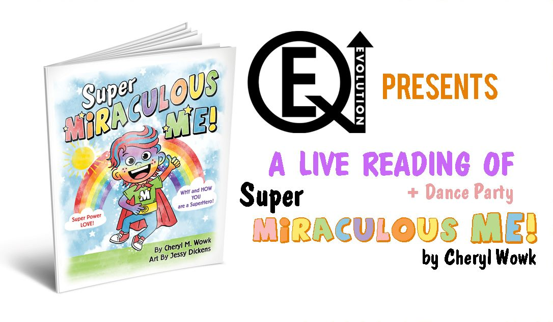 Calling all parents, teachers, kiddos and grandparents! Join us on Friday, October 23 at 10:30 a.m. as first time author Cheryl Wowk, founder of EQ Evolution Inc, debuts her first children's book Super Miraculous Me. The book takes children on a journey of self discovery to teach them how to unleash their inner superhero. Email cwowk.eqevolution@gmail.com for your private zoom link to join.