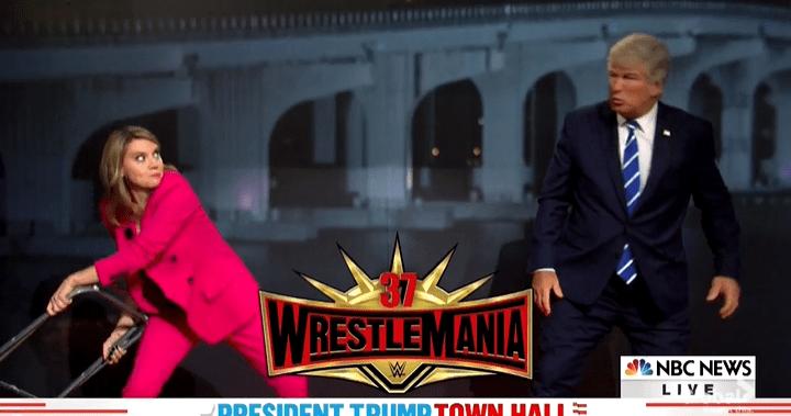 'SNL' parodies dueling town halls with Trump-Guthrie wrestling match, Biden as Bob Ross