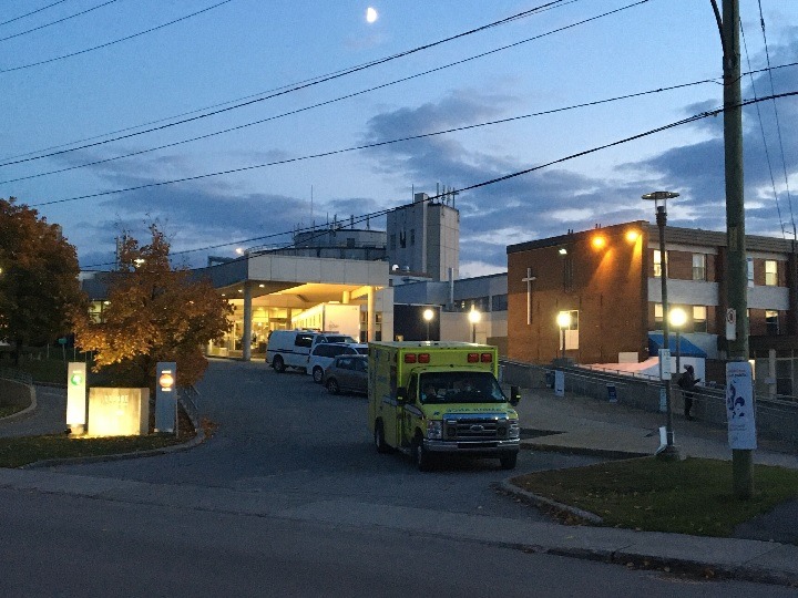 An outbreak of COVID-19 at Santa Cabrini's hospital emergency room has prompted a massive screening operation. Friday, Oct. 23, 2020.