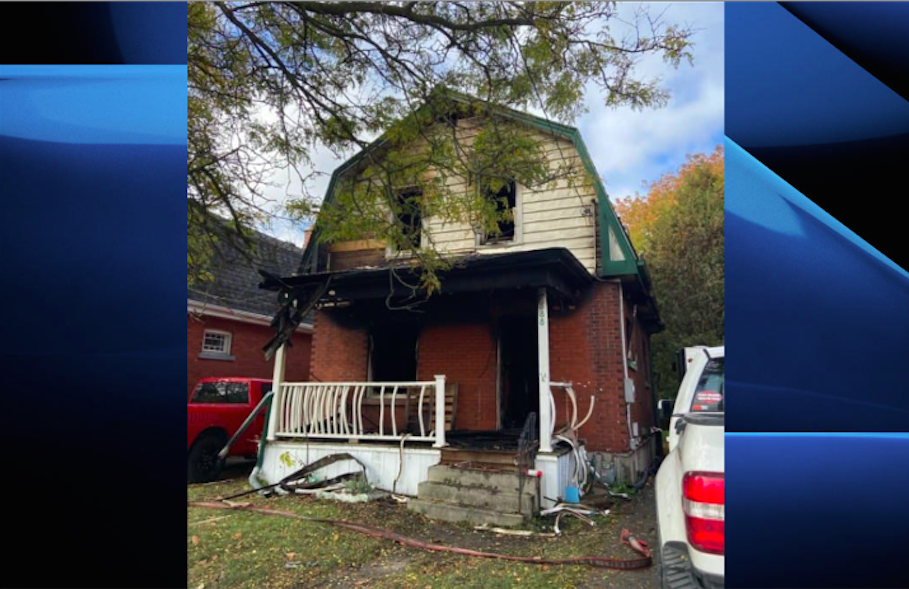 Police say the fire happened shortly before 1 a.m. Sunday on Downie Street..