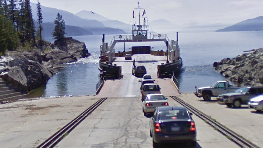 The Shelter Bay ferry terminal.
