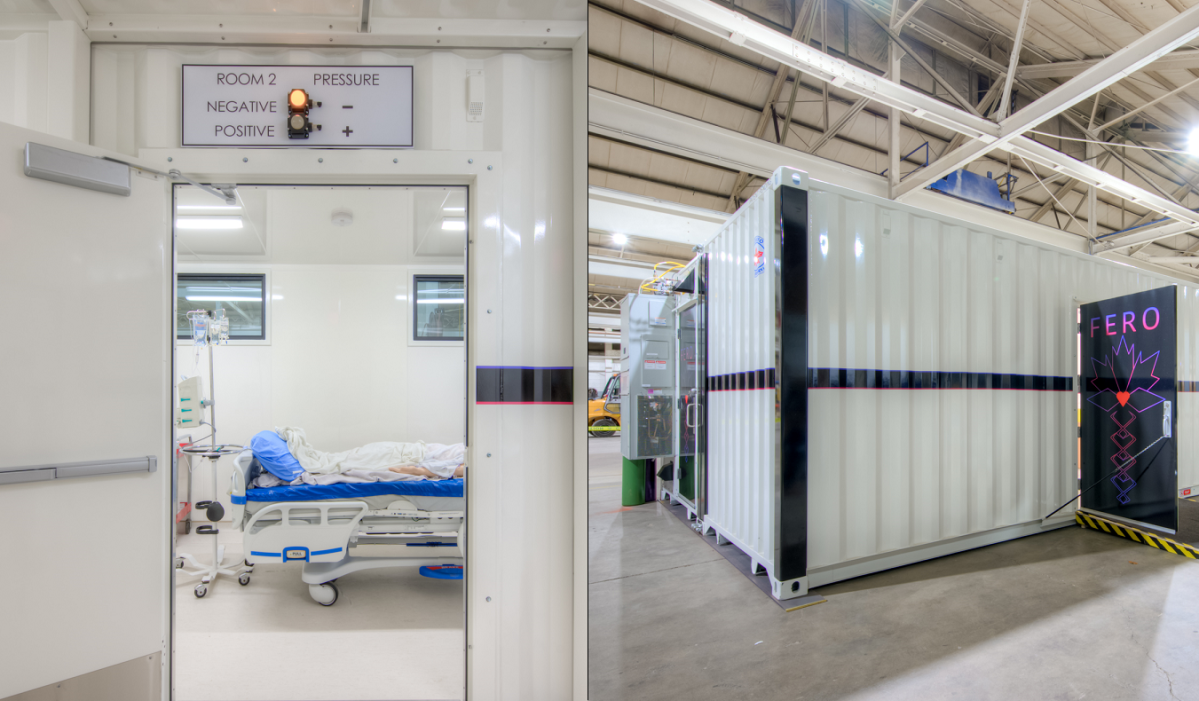 A Hamilton-based company is turning shipping containers into mobile hospital units.