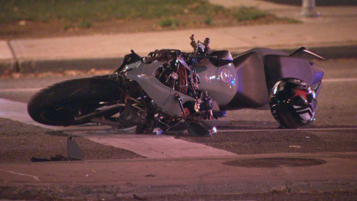 The scene of the crash in the area of Islington Avenue and Dixon Road.
