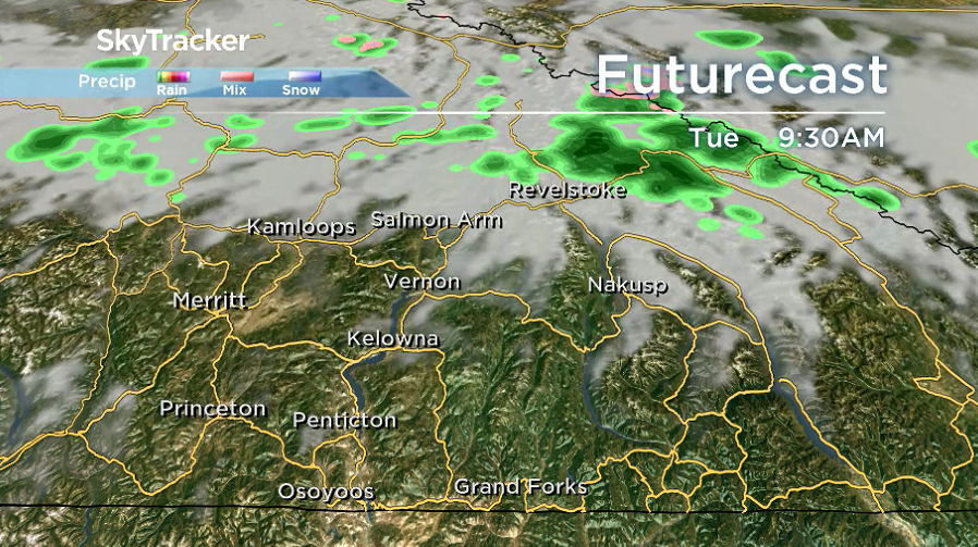 There is a chance of some morning valley cloud lingering Tuesday morning.