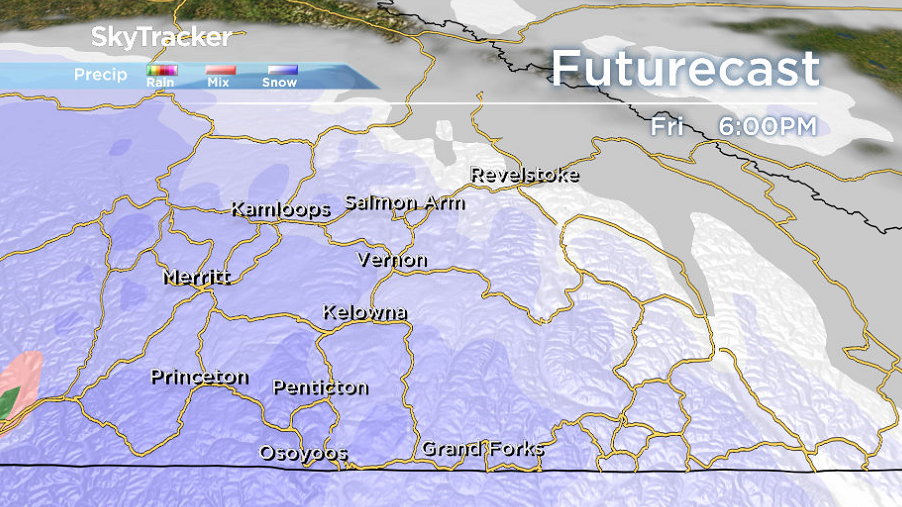 Valley bottom snow may return to finish the week on Friday.