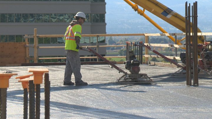 A massive project in downtown Kelowna has reached an important milestone.