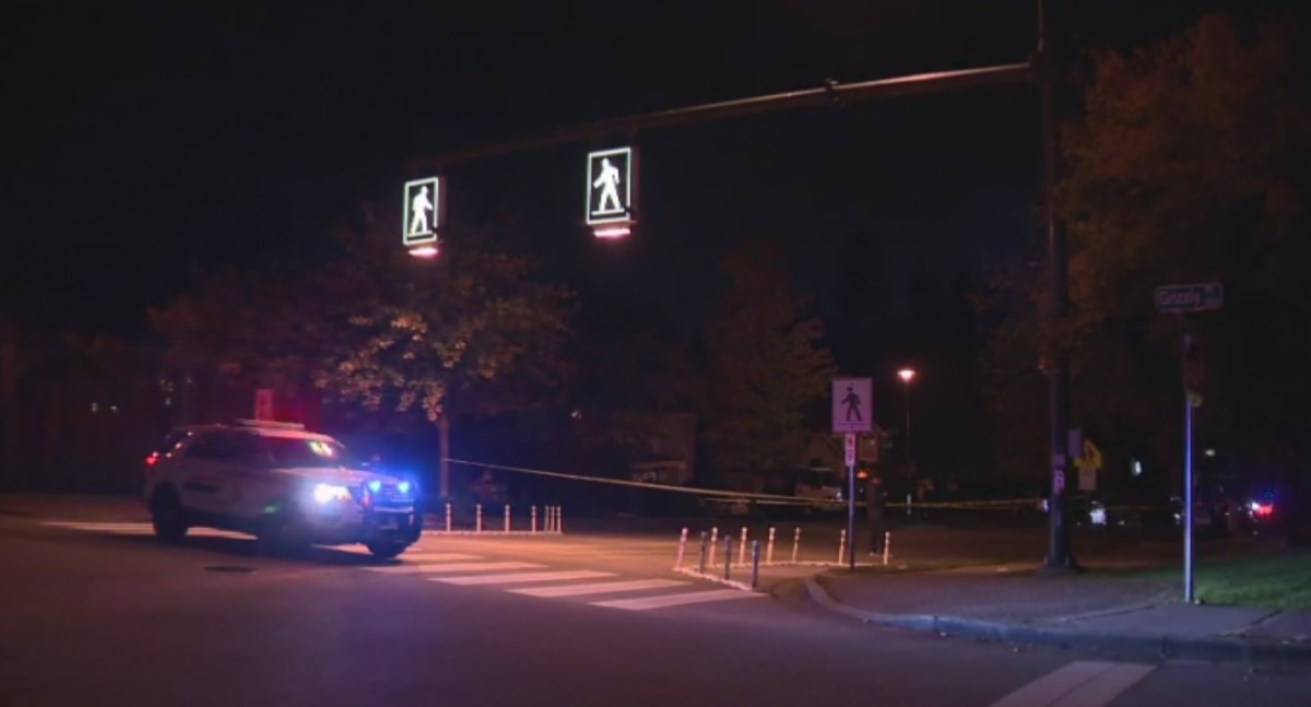 Two pedestrians have been taken to hospital with serious injuries after they were struck by a vehicle in Coquitlam Monday evening.