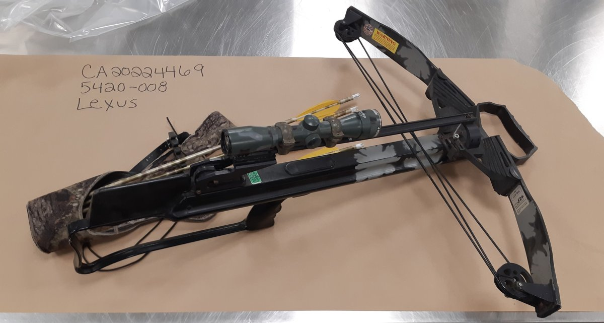 A crossbow is among the stolen items Calgary police hope to return to their rightful owners.