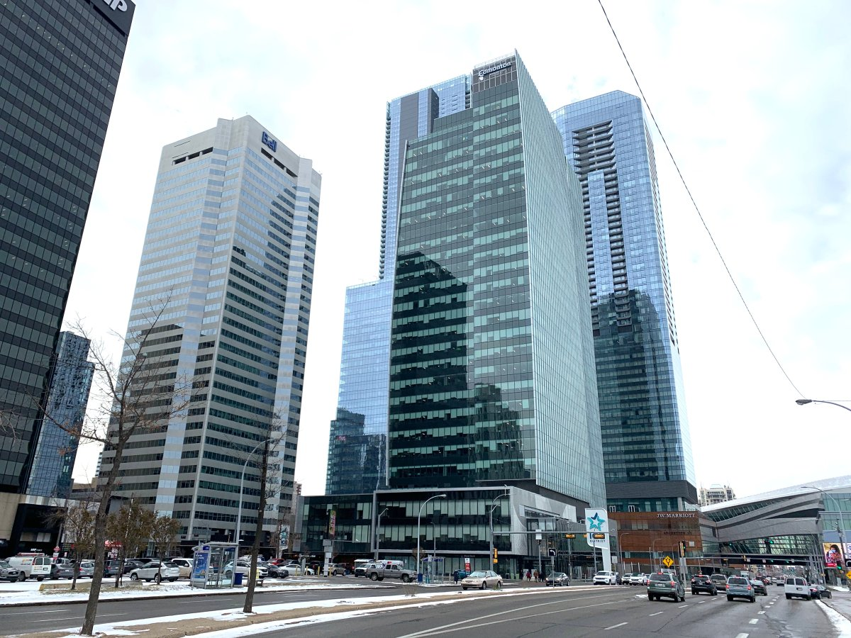 The Edmonton Tower Tuesday, Oct. 20, 2020.