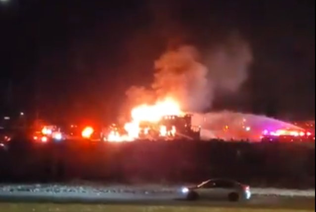 A home in northwest Edmonton caught fire in the early morning on Saturday, Oct. 17, 2020.