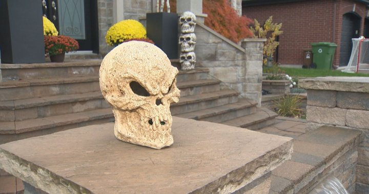 Halloween decorations stolen from Île-Bizard front lawn