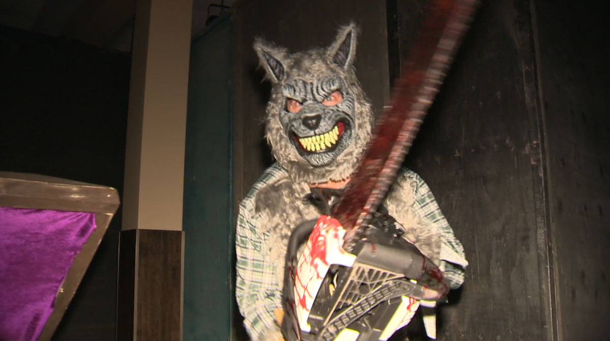 Inside the haunted house at Four Crowns Restaurant and Bar on McPhillips Street.