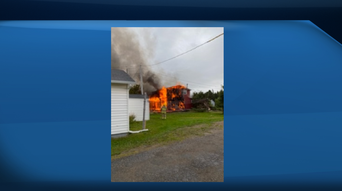 A fire that raged in Heatherton, N.L., Thursday morning and affected several buildings has been extinguished.