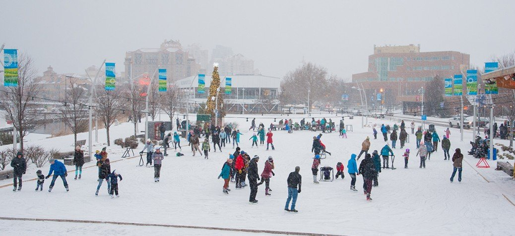 Kelowna city council will consider on Monday how to safely reopen the outdoor skating rink at Stuart Park during the coronavirus pandemic.