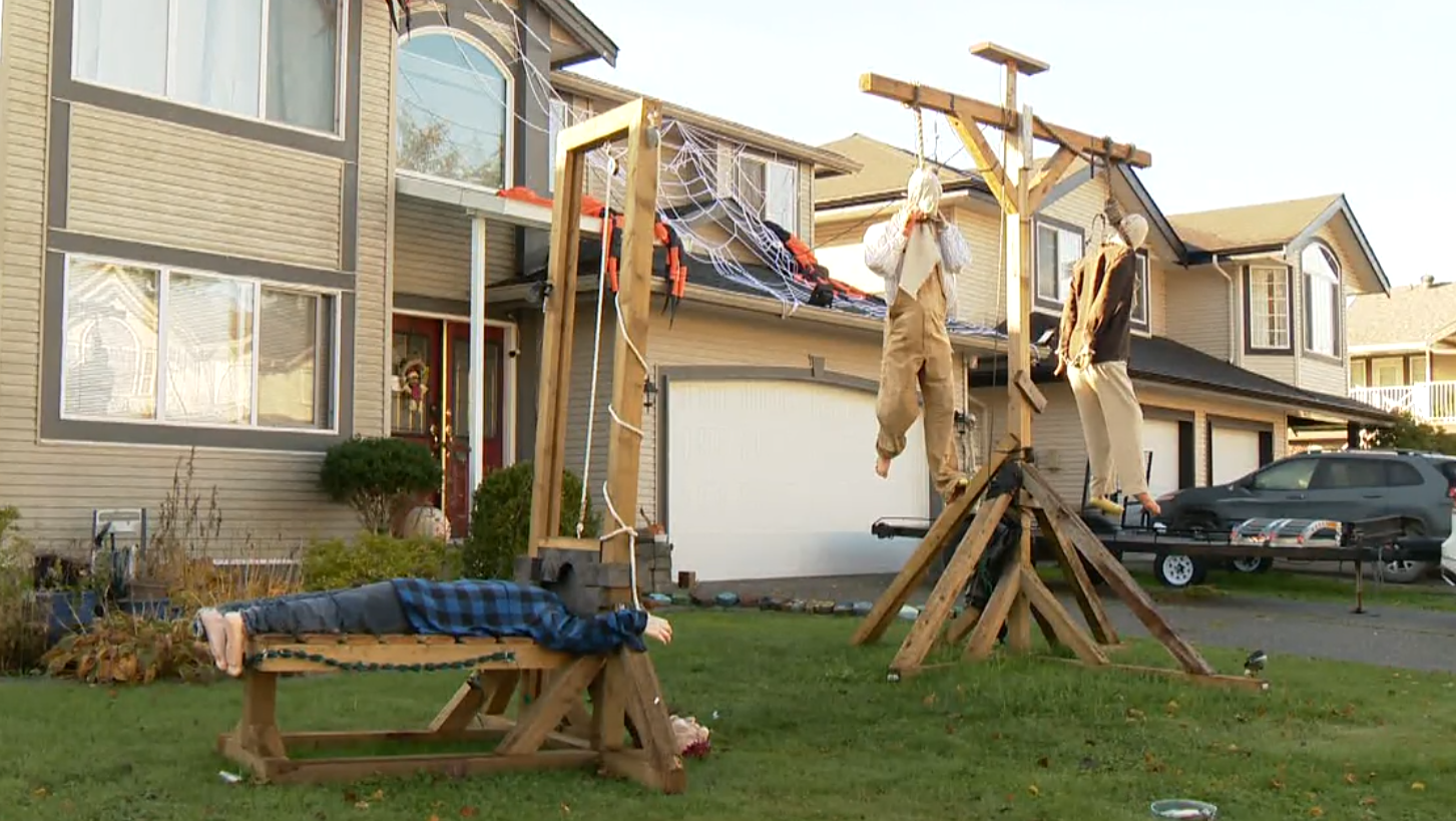Maple Ridge man defends Halloween display criticized as racially insensitive