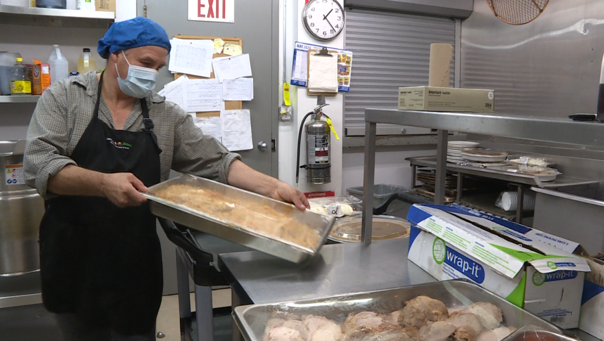 Michael Chrusch decided to volunteer at Main Street Project for the first time this Thanksgiving.