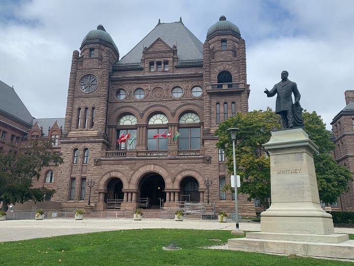 The exterior of Queen's Park.