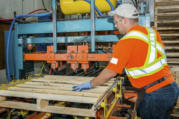 Oxford Pallet, a wood pallet recycling business in Norwich, is getting a total of $1-million, which will create 20 jobs by installing new, advanced equipment, including a custom-designed automated pallet sort line in its new 48,000-sq. ft. facility.