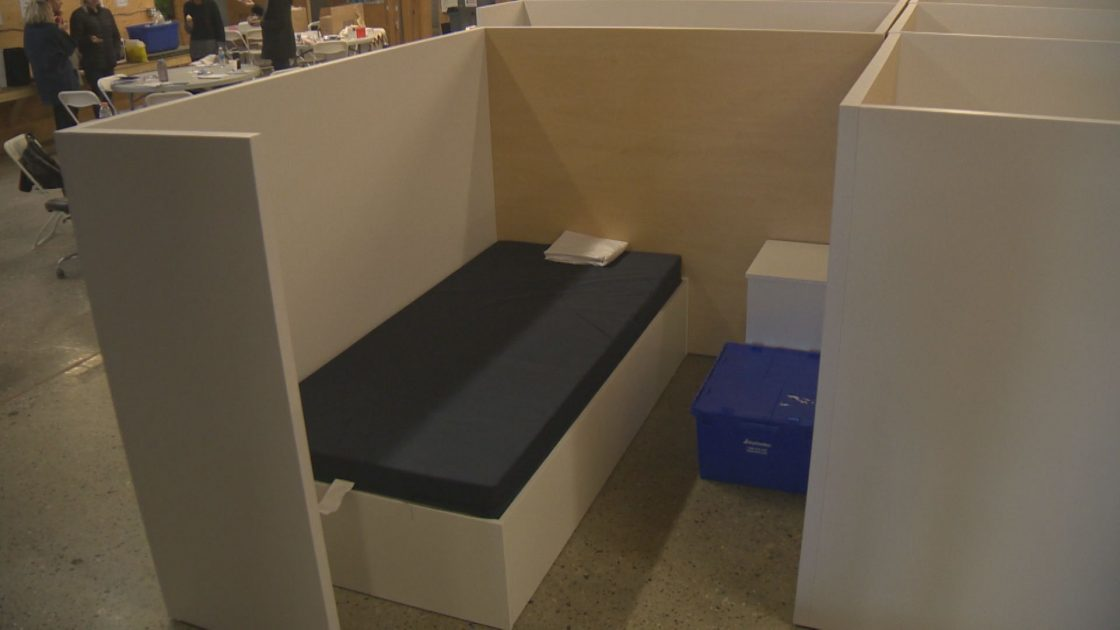 The temporary shelter on Doyle Ave. in Kelowna will stay open until the end of September.