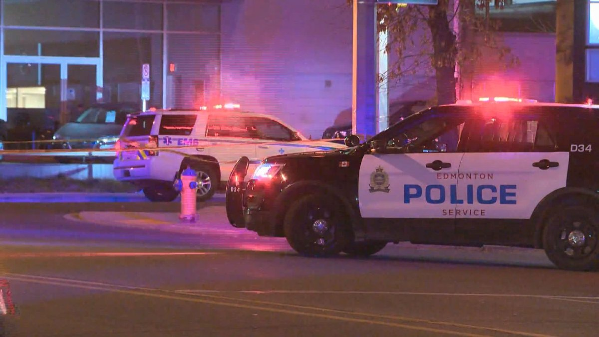 Edmonton police responded to a weapons complaint that involved a seriously injured man in the evening of Oct. 18, 2020.