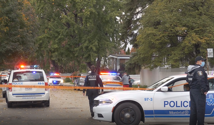 Police are investigating after a man was stabbed during an altercation in Pointe-aux-Trembles. Wednesday, oct. 7, 2020.
