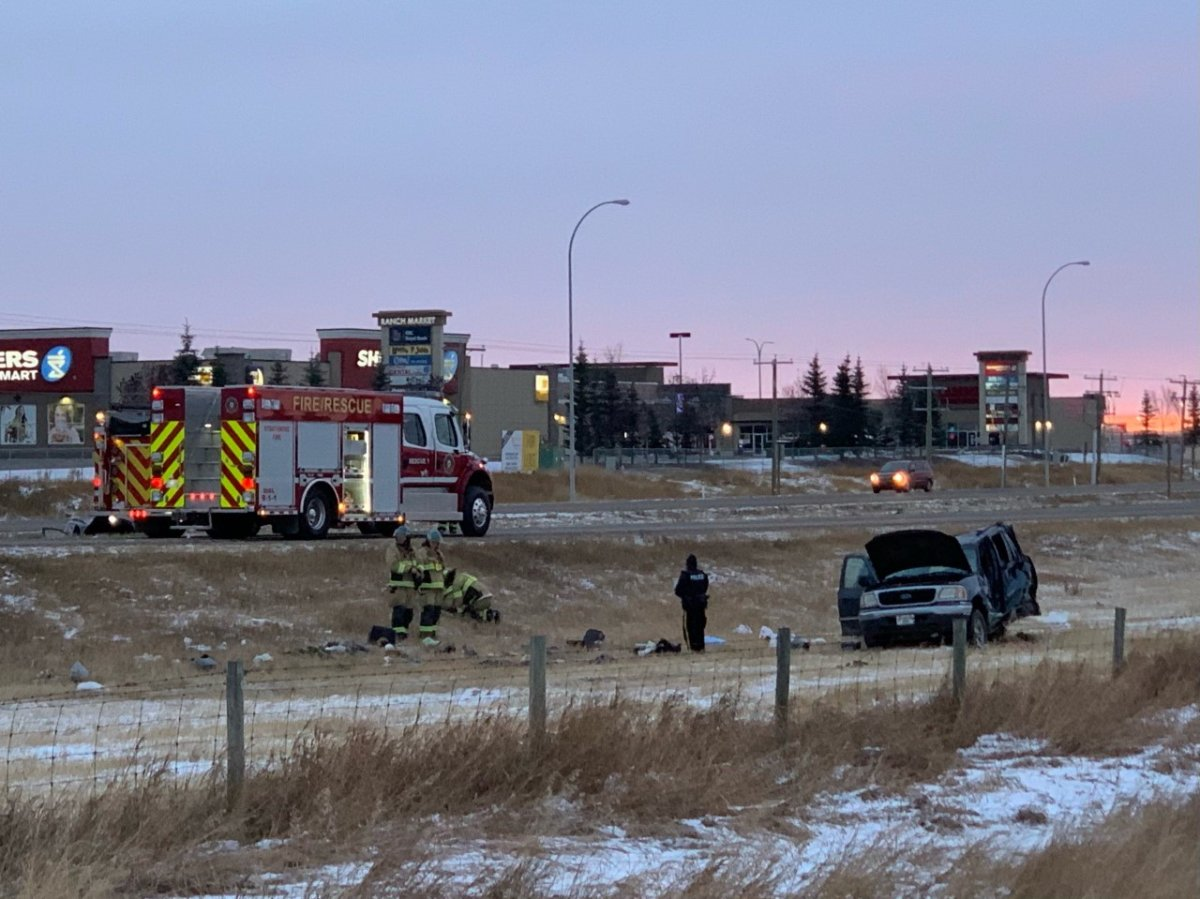 Alberta RCMP responded to a fatal crash in Strathmore on Sunday, Oct. 18, 2020.