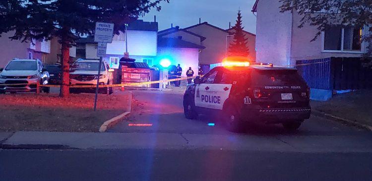 Edmonton police were investigating a suspicious death in west Edmonton Saturday.