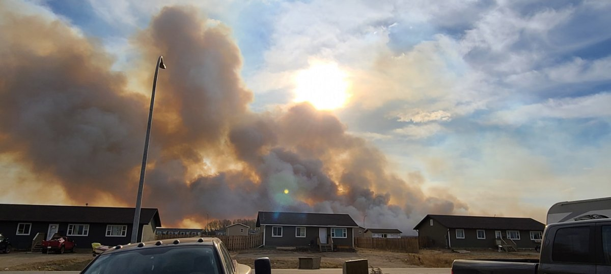 Pasqua First Nation Chief Todd Peigan said the fast moving fire started off-reserve on a farmer's field.