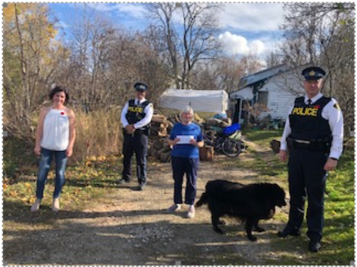 Huronia West OPP recently collected $174 for a Wasaga Beach, Ont., resident who recently had her pick-up truck stolen.