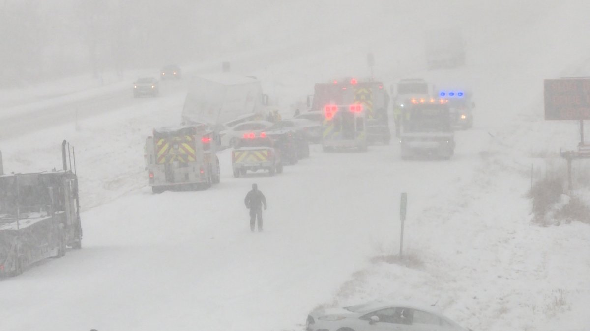 Police say the crash that occurred on December 11, 2019 damaged 22 passenger vehicles and 25 commercial vehicles as a result of the collisions near Brockville, and hundreds more were stuck in the traffic jam that resulted.
