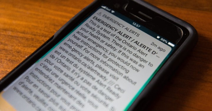 Another emergency alert system to be tested across Canada