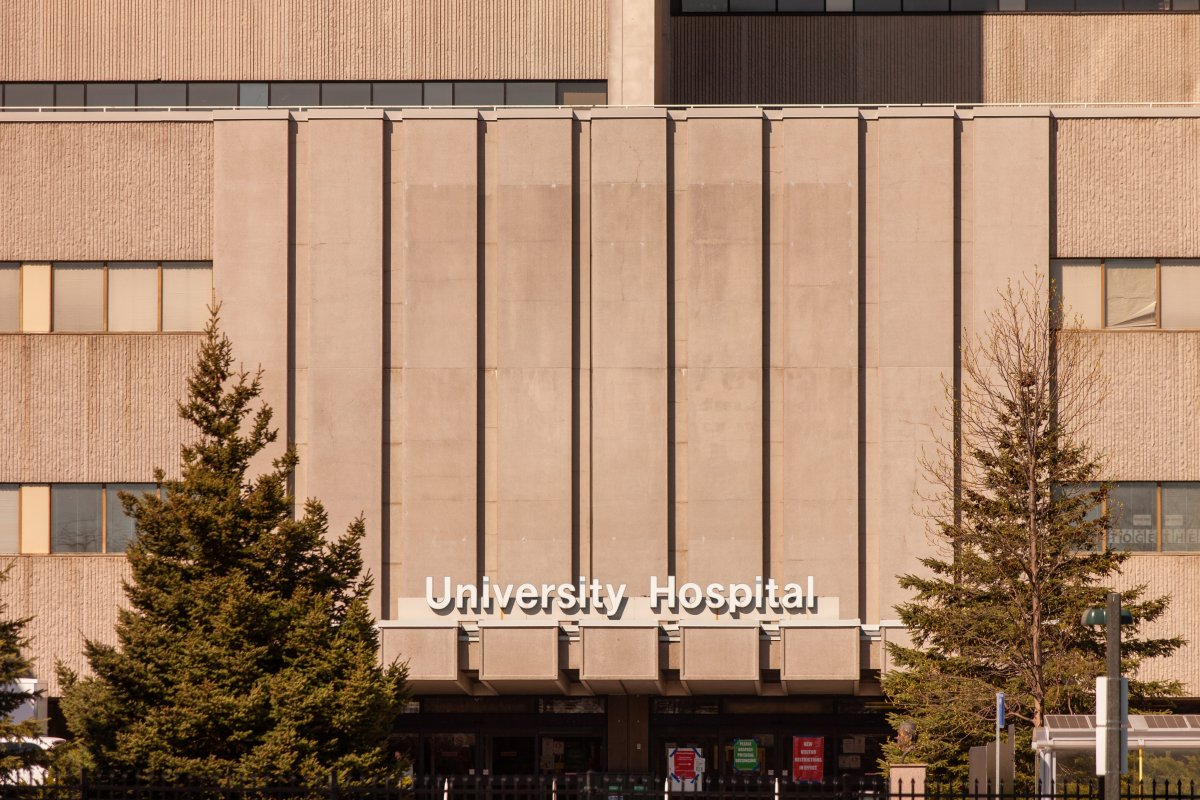 University Hospital on the campus of Western University in London, Ont, on May 13, 2020.