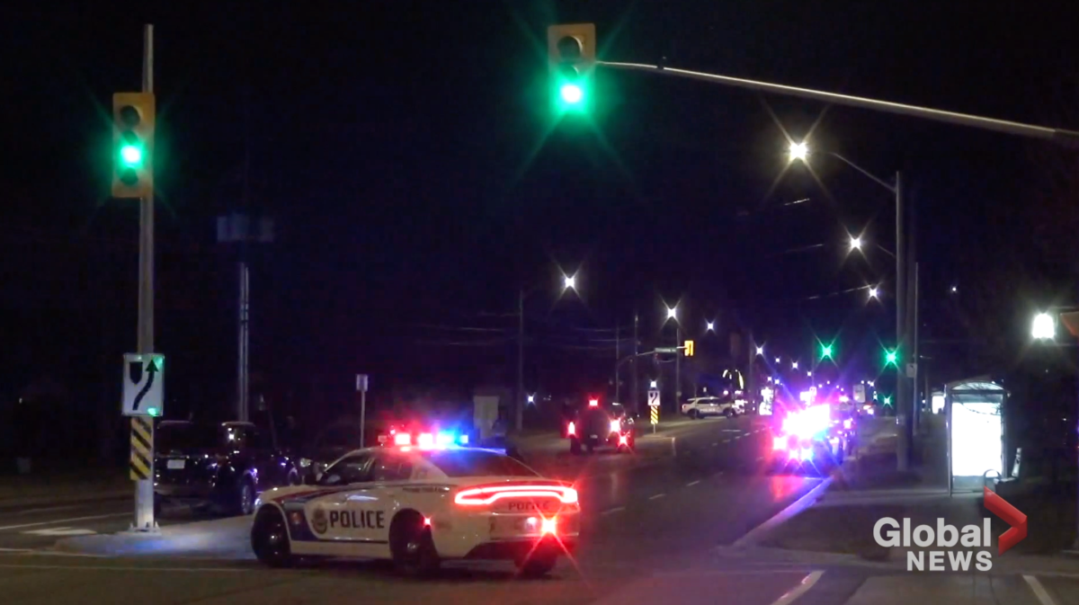 Peterborough police closed a section of Chemong Road on Tuesday night for an investigation.