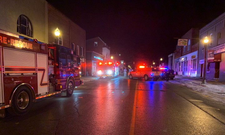 At about 5:10 a.m., firefighters and officers were called to the scene, where smoke was seen billowing from the building.