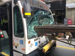 Continue reading: 2 people injured after crash sends truck's metal struts through front window of Halifax transit bus
