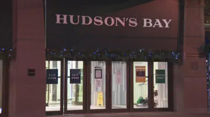 Coronavirus: Toronto Hudson's Bay store open on day 1 of lockdown to suspend in-person shopping