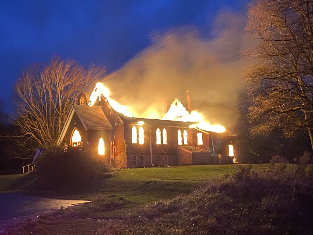 OPP say they responded Sunday morning along with the Chippewa Fire Department to a structure fire at the St. Andrew's Anglican Church located at 81 Chippewa Road in Muncey.
