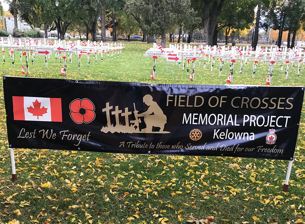 Organizers say around 100 small Canadian flags in the Field of Crosses display were torn or damaged during the early hours of Nov. 5.