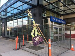 Continue reading: Upside-down Kelowna public art piece a metaphor for health-care system, says art studio