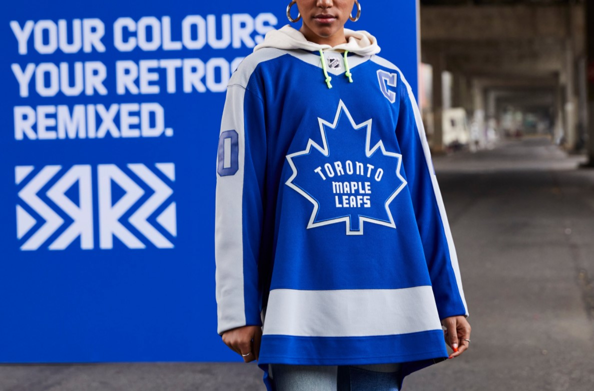 The Toronto Maple Leafs Reverse Retro jersey.