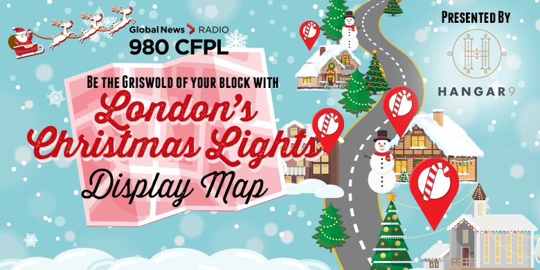 London's Christmas Lights Display Map - image