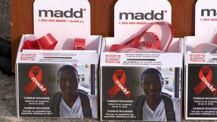 Thousands of red ribbons will be distributed across Canada.